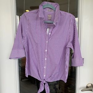 No Iron Misses Casual Blouse